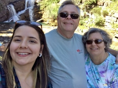 Roxanne &Michael with daughter at Waterton Lakes National Park